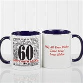 Another Year Has Gone By Personalized Coffee Mug- 11 oz.- Blue - 10835-BL