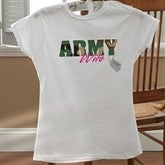 Army and Navy Supporter© Ladies White Fitted Tee - 10836-LF