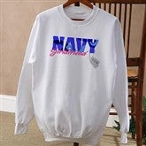 Army and Navy Supporter© White Adult Sweatshirt - 10836-AS