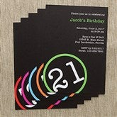 Perfectly Aged Personalized Party Invitations - 10837