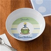 First Birthday Boy Personalized Melamine Bowl - 10861D-B