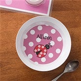 Ladybug Love Personalized Melamine Bowl - 10862D-B