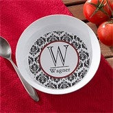 Damask Monogram Personalized Melamine Bowl - 10864D-B