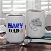 Army and Navy Supporter Personalized Mug- 15 oz. - 10865-L