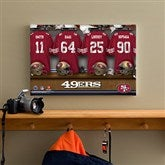 NFL San Francisco 49ers Personalized Locker Room Canvas- 12x18 - 10873-S
