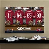 NFL San Francisco 49ers Personalized Locker Room Canvas- 16x24 - 10873-M