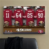 NFL San Francisco 49ers Personalized Locker Room Canvas- 24x36 - 10873-L