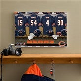 NFL Chicago Bears Personalized Locker Room Canvas - 12x18 - 10874-S