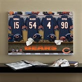 NFL Chicago Bears Personalized Locker Room Canvas- 16x24 - 10874-M