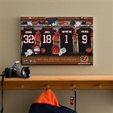 NFL Cincinnati Bengals Personalized Locker Room Canvas- 12x18 - 10875-S