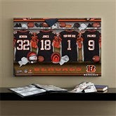 NFL Cincinnati Bengals Personalized Locker Room Canvas- 16x24 - 10875-M