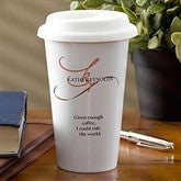 My Monogram Personalized Reusable Travel Tumbler - 10884