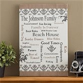 Our Family Personalized Canvas Art - 10886