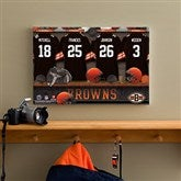 NFL Cleveland Browns Personalized Locker Room Canvas- 12x18 - 10887-S