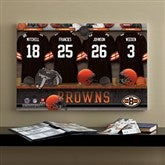 NFL Cleveland Browns Personalized Locker Room Canvas- 16x24 - 10887-M