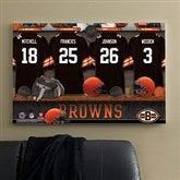 NFL Cleveland Browns Personalized Locker Room Canvas- 24x36 - 10887-L