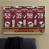 NFL Arizona Cardinals Personalized Locker Room Canvas - 24x36 - 10889-L