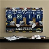 NFL San Diego Chargers Personalized Locker Room Canvas- 16x24 - 10890-M