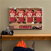 NFL Kansas City Chiefs Personalized Locker Room Canvas- 12x18 - 10891-S
