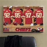 NFL Kansas City Chiefs Personalized Locker Room Canvas- 24x36 - 10891-L