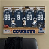 NFL Dallas Cowboys Personalized Locker Room Canvas- 24x36 - 10893-L