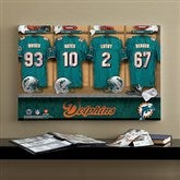 NFL Miami Dolphins Personalized Locker Room Canvas- 16x24 - 10894-M