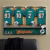 NFL Miami Dolphins Personalized Locker Room Canvas- 24x36 - 10894-L