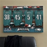 NFL Philadelphia Eagles Personalized Locker Room Canvas- 24x36 - 10895-L