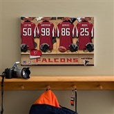 NFL Atlanta Falcons Personalized Locker Room Canvas- 12x18 - 10896-S