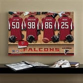 NFL Atlanta Falcons Personalized Locker Room Canvas- 16x24 - 10896-M