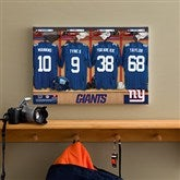 NFL New York Giants Personalized Locker Room Canvas- 12x18 - 10897-S