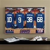 NFL New York Giants Personalized Locker Room Canvas- 16x24 - 10897-M