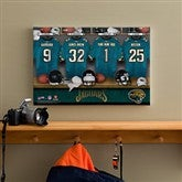 NFL Jacksonville Jaguars Personalized Locker Room Canvas- 12x18 - 10898-S