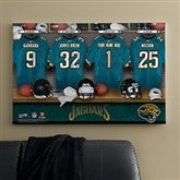 NFL Jacksonville Jaguars Personalized Locker Room Canvas- 24x36 - 10898-L