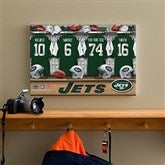 NFL New York Jets Personalized Locker Room Canvas- 12x18 - 10899-S