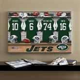NFL New York Jets Personalized Locker Room Canvas - 16x24 - 10899-M
