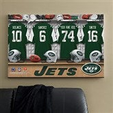 NFL New York Jets Personalized Locker Room Canvas - 24x36 - 10899-L
