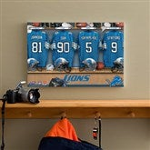 NFL Detroit Lions Personalized Locker Room Canvas- 12x18 - 10900-S