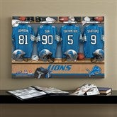 NFL Detroit Lions Personalized Locker Room Canvas- 16x24 - 10900-M
