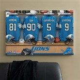 NFL Detroit Lions Personalized Locker Room Canvas- 24x36 - 10900-L