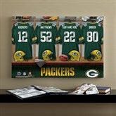 NFL Green Bay Packers Personalized Locker Room Canvas- 16x24 - 10901-M