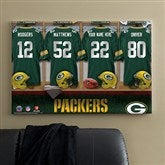 NFL Green Bay Packers Personalized Locker Room Canvas - 24x36 - 10901-L