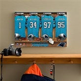 NFL Carolina Panthers Personalized Locker Room Canvas- 12x18 - 10902-S