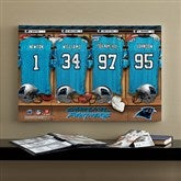 NFL Carolina Panthers Personalized Locker Room Canvas- 16x24 - 10902-M