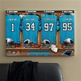 NFL Carolina Panthers Personalized Locker Room Canvas- 24x36 - 10902-L