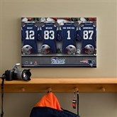 NFL New England Patriots Personalized Locker Room Canvas- 12x18 - 10907-S