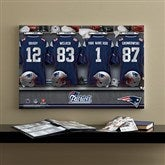NFL New England Patriots Personalized Locker Room Canvas- 16x24 - 10907-M