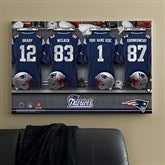 NFL New England Patriots Personalized Locker Room Canvas- 24x36 - 10907-L