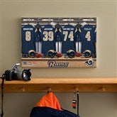 NFL St. Louis Rams Personalized Locker Room Canvas- 12x18 - 10909-S