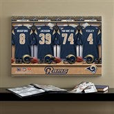 NFL St. Louis Rams Personalized Locker Room Canvas- 16x24 - 10909-M